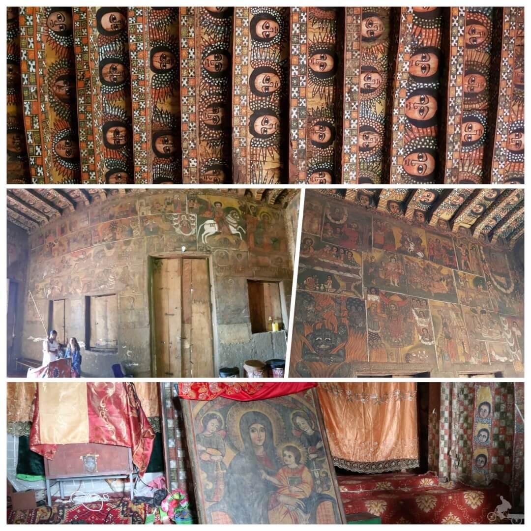 pinturas iglesia de Debre Birhan Selassie