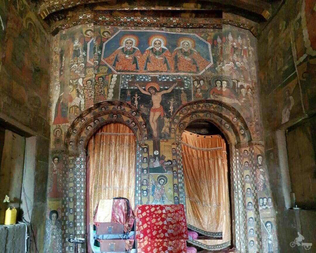 altar iglesia de Debre Birhan Selassie