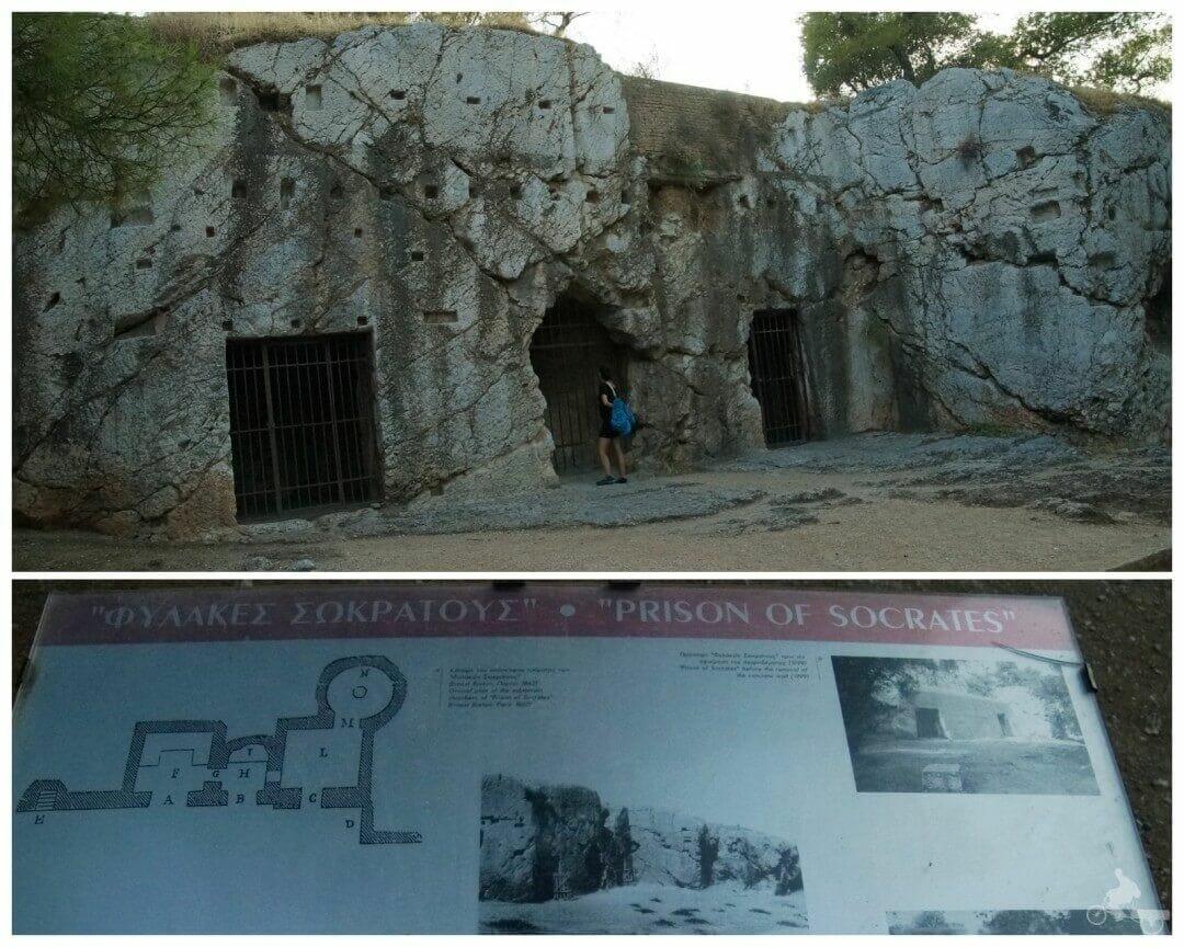 Prisión de Sócrates en el free tour Atenas
