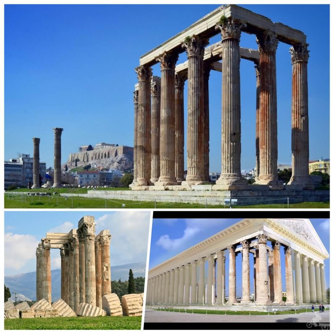 templo zeus olimpico en el free tour atenas