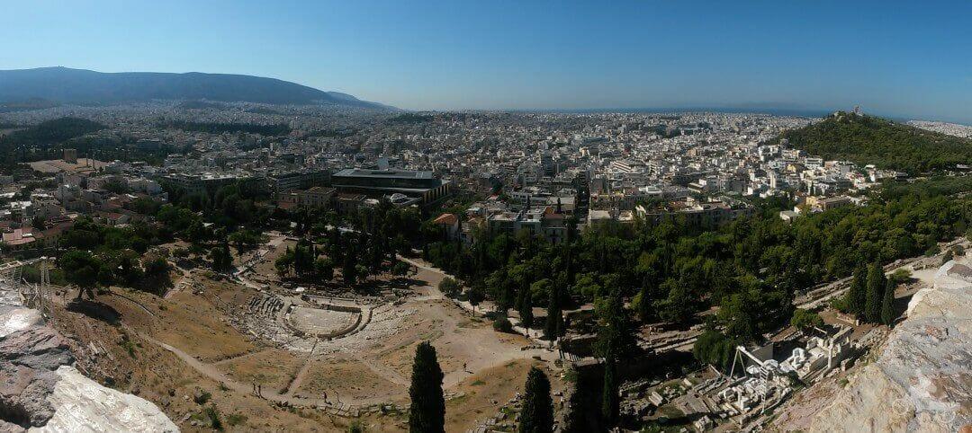 vistas atenas desde acropolis