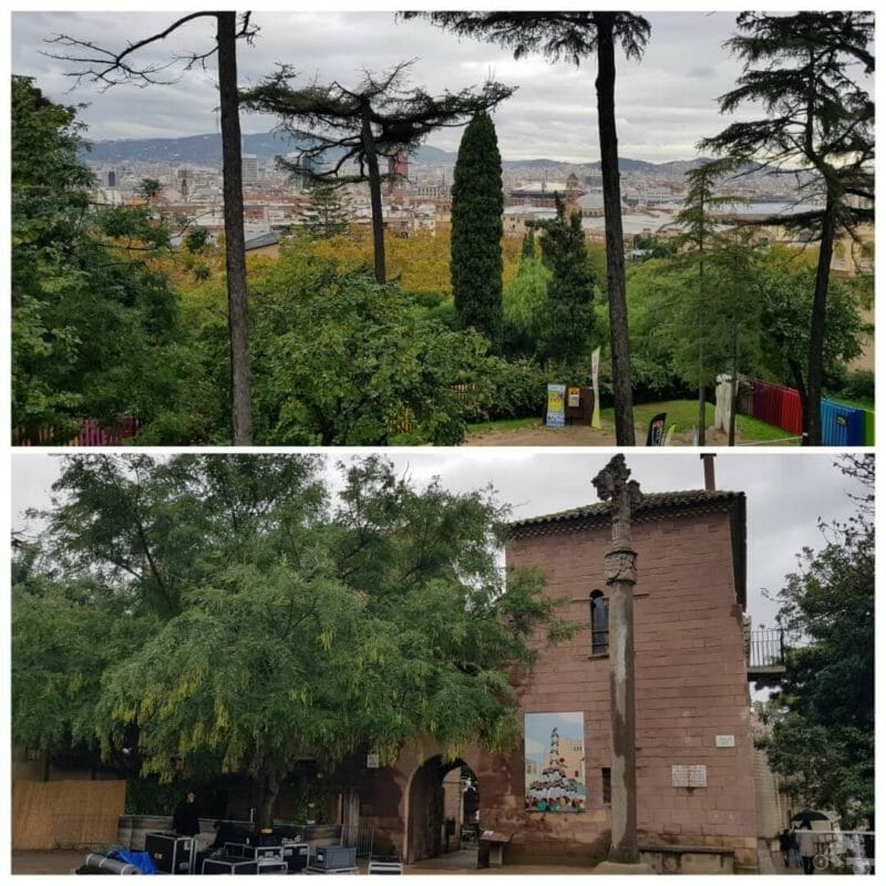 vistas barcelona desde poble espanyol