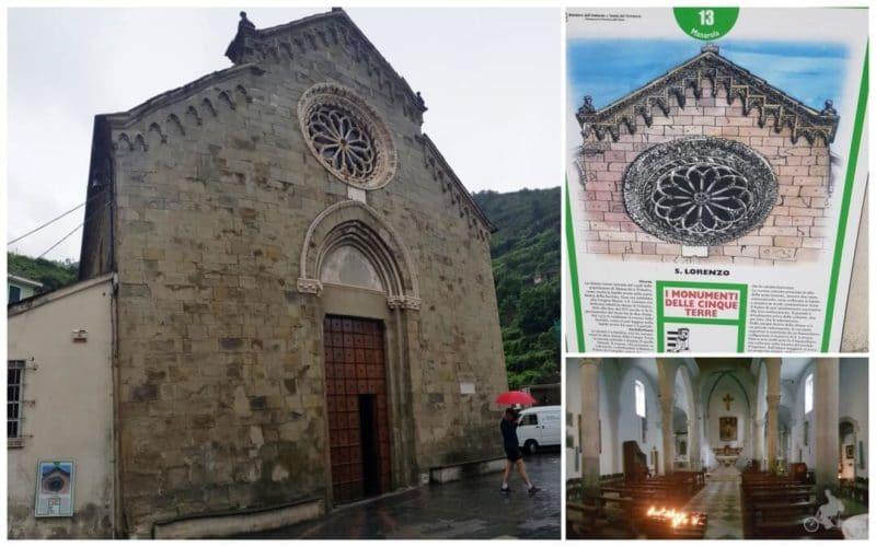 Iglesia de la natividad de maria virgen san lorenzo de manarola