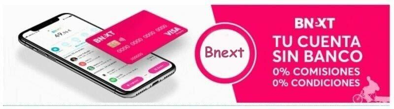 bnext tarjeta sin comisiones