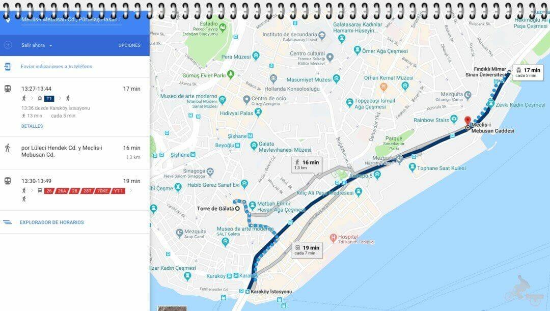 mapa puerto estambul