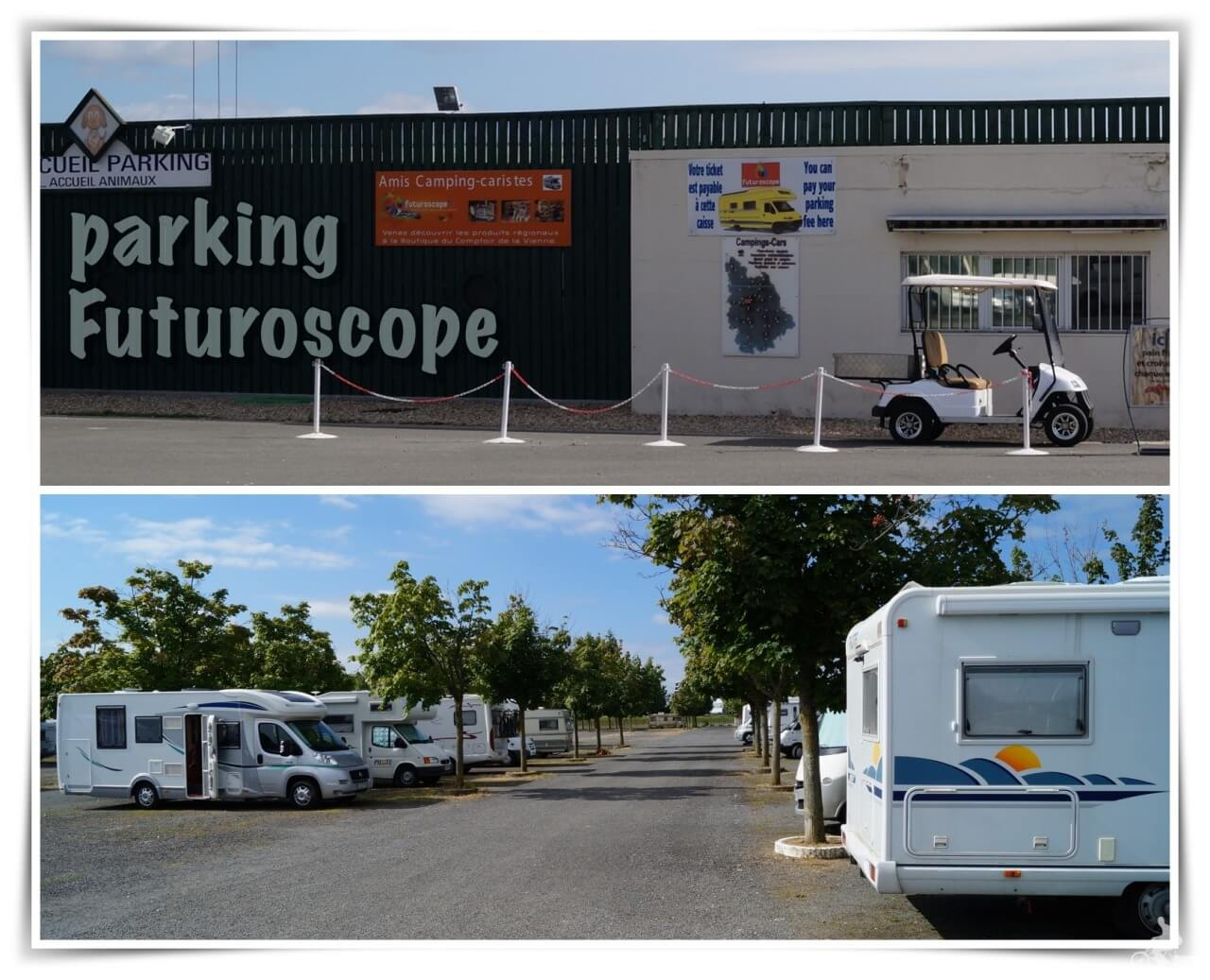 parking futuroscope autocaravanas