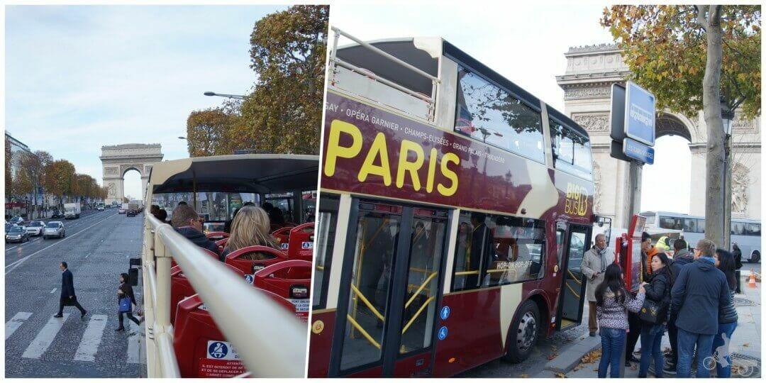 big bus paris arco del triunfo