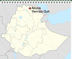 Abuna Yemata Guh mapa