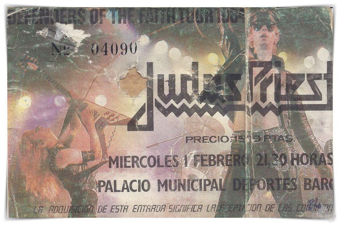 JUDAS-priest-entrada concierto febrero 84 BARCELONA