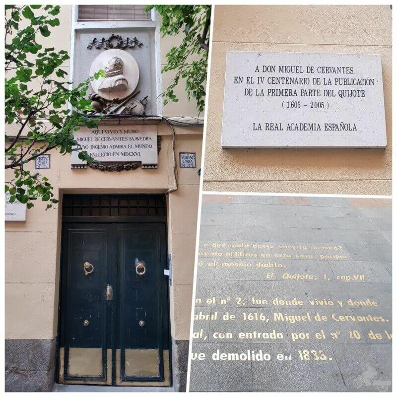 casa de cervantes barrio letras madrid