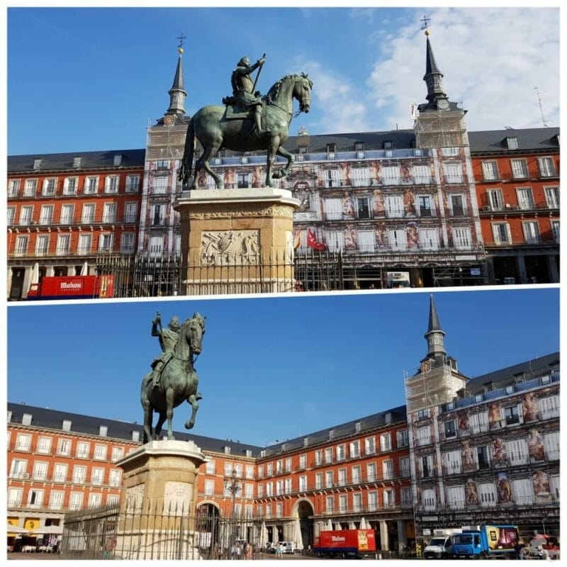 estatua ecuestre felipe iii madrid plaza mayor