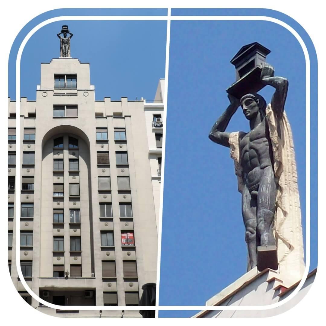 estatua romano gran via madrid 60