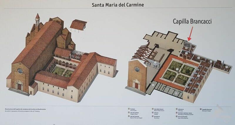 capilla brancacci iglesia del carmine