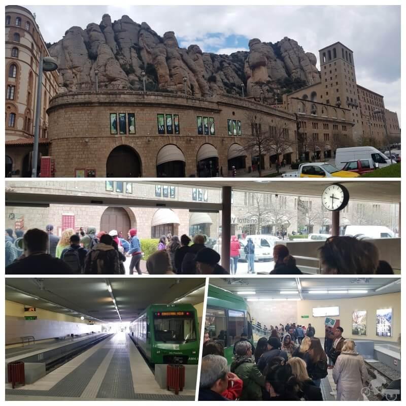 estación tren cremallera Montserrat