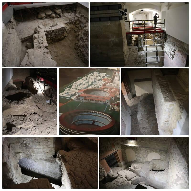 excavaciones del teatro romano de Florencia del Palazzo vecchio