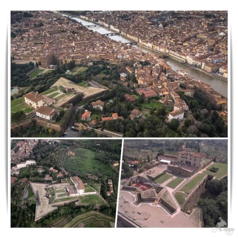 forte belvedere desde el aire drone