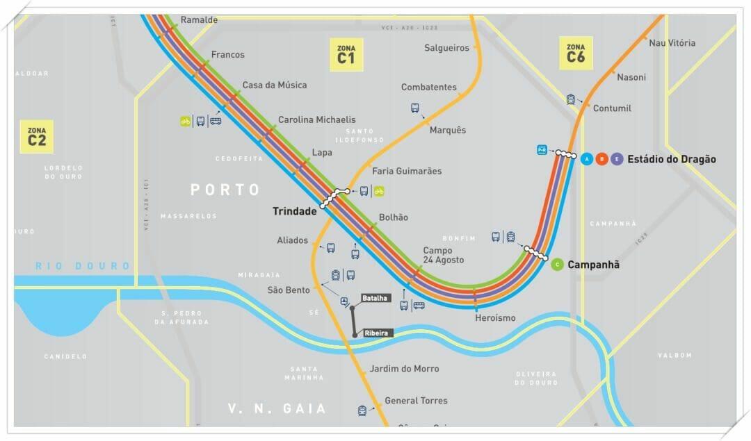 lineas metro oporto