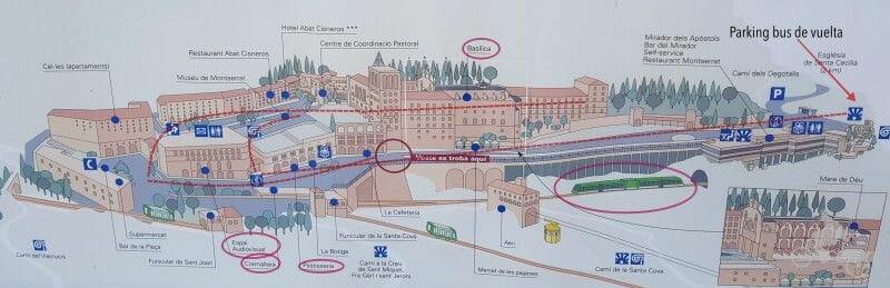 plano basilica montserrat