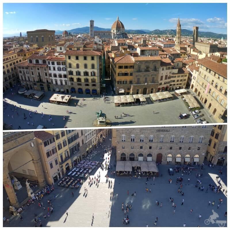 vistas desde la torre arnolfo en el palazzo Vecchio
