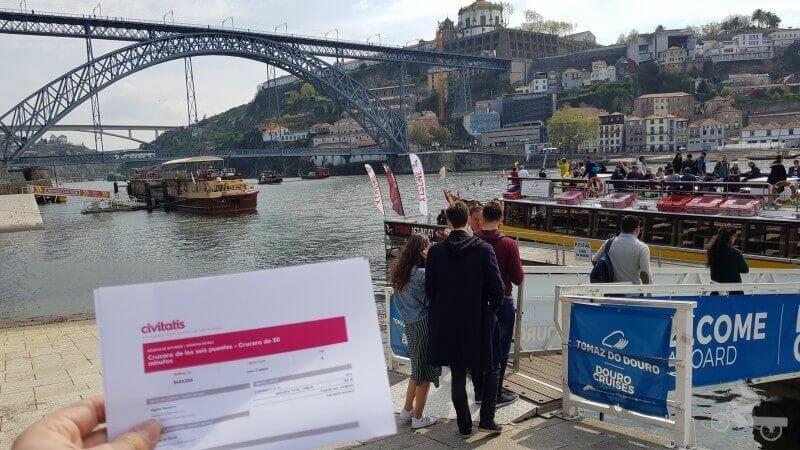 crucero de los 6 puentes de oporto con civitatis