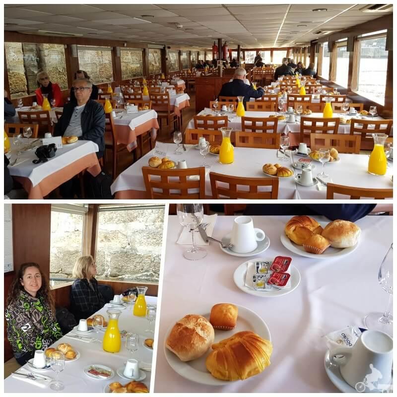 desayuno del crucero por el duero