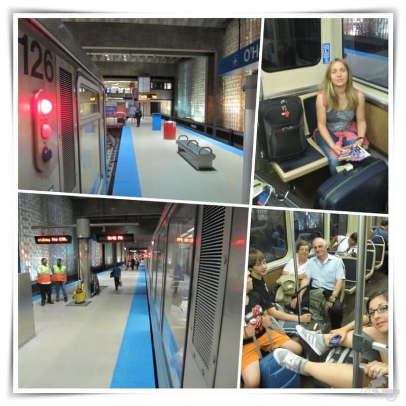 estacion metro cta aeropuerto chicago