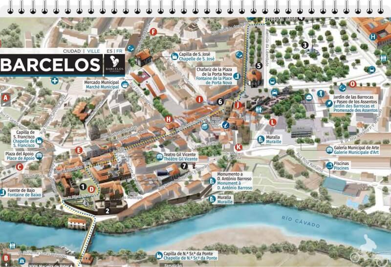 mapa de barcelos portugal plano