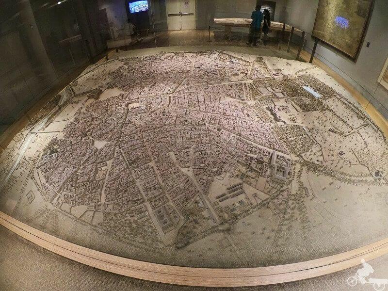 maqueta madrid en el museo de historia