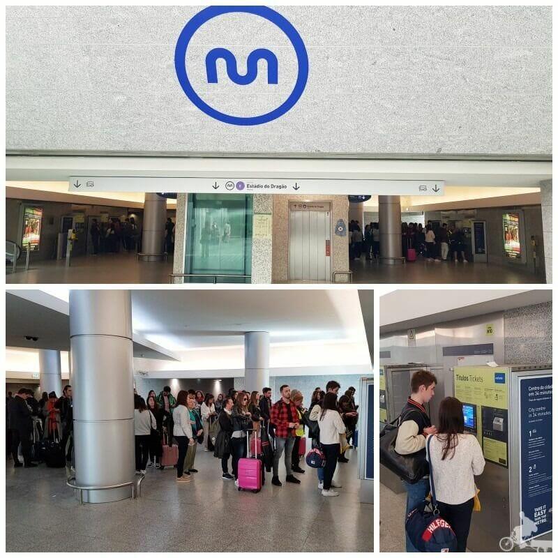 metro aeropuerto de oporto