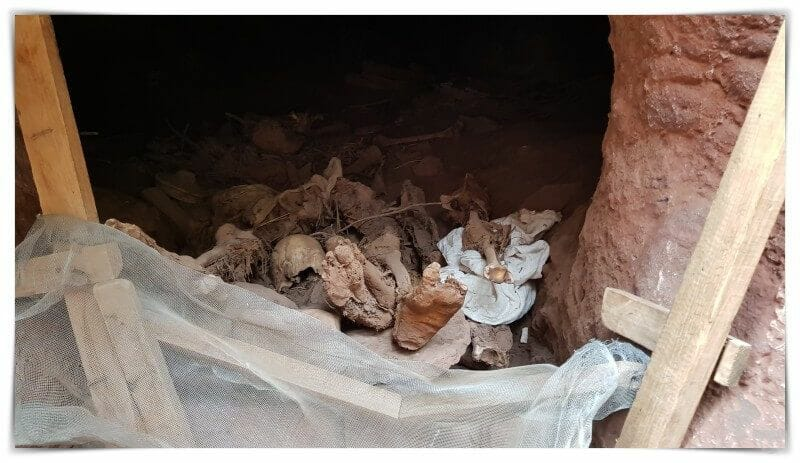 muertos cadaveres momificados enterrados lalibela