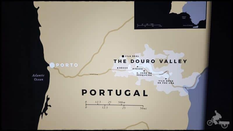 valle duero oporto vinos mapa