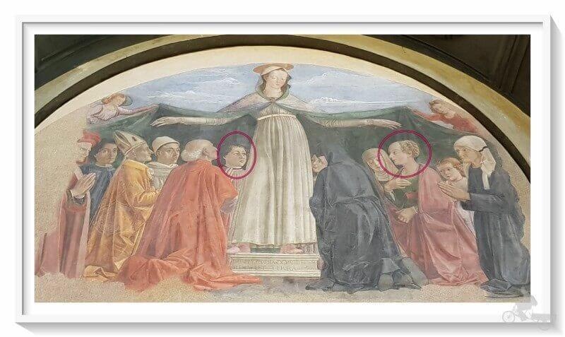Madonna della Misericordia y la Lamentacion - ghirlandaio ognissanti