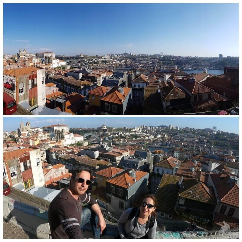 Mirador junto a la Igreja de Nossa Senhora da Vitoria en el free tour oporto