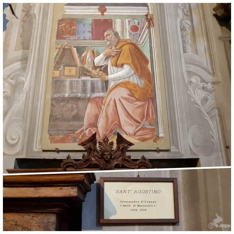 San Agustín de Botticelli iglesia ognissanti