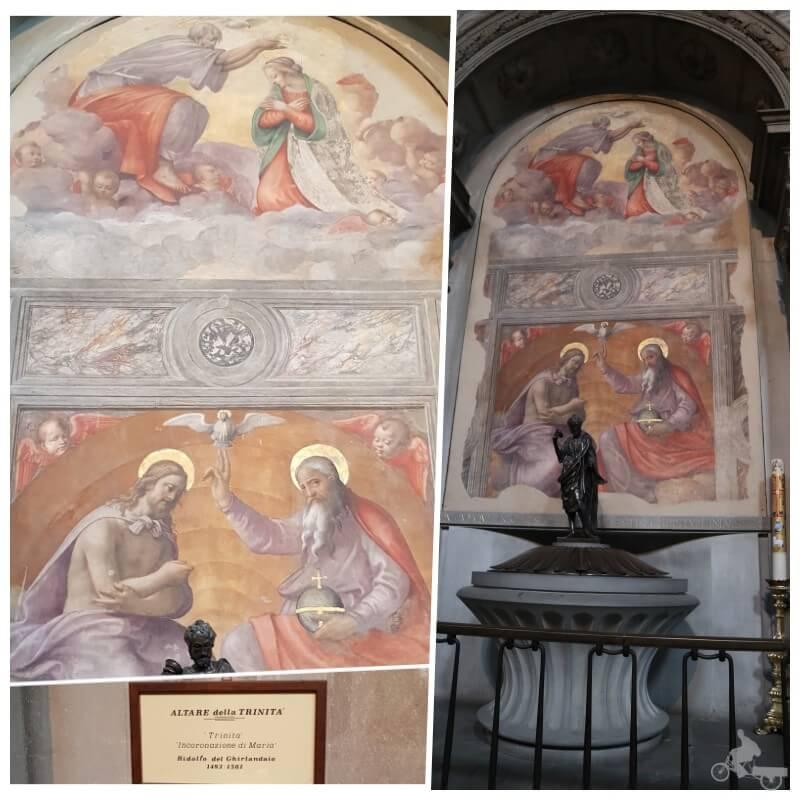 altar de la trinidad iglesia ognissanti