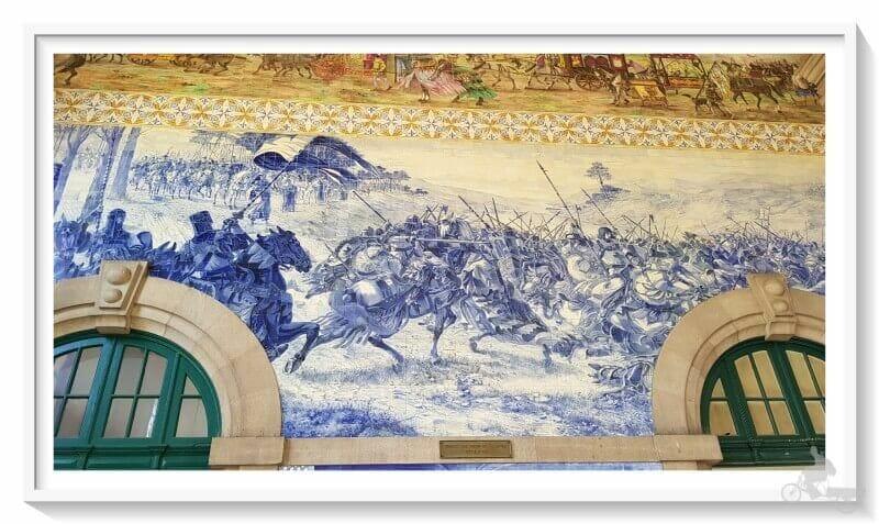 Torneo o batalla de los Arcos de Valdevez en la estación de sao Bento