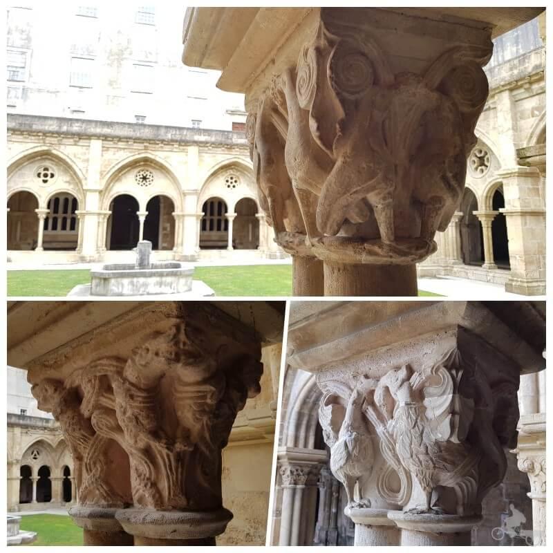 capiteles claustro de la catedral vieja de Coimbra se Velha