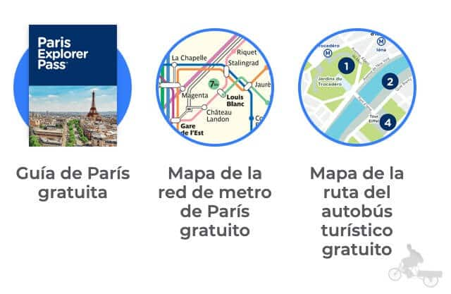 descarga y mapa paris explorer pass