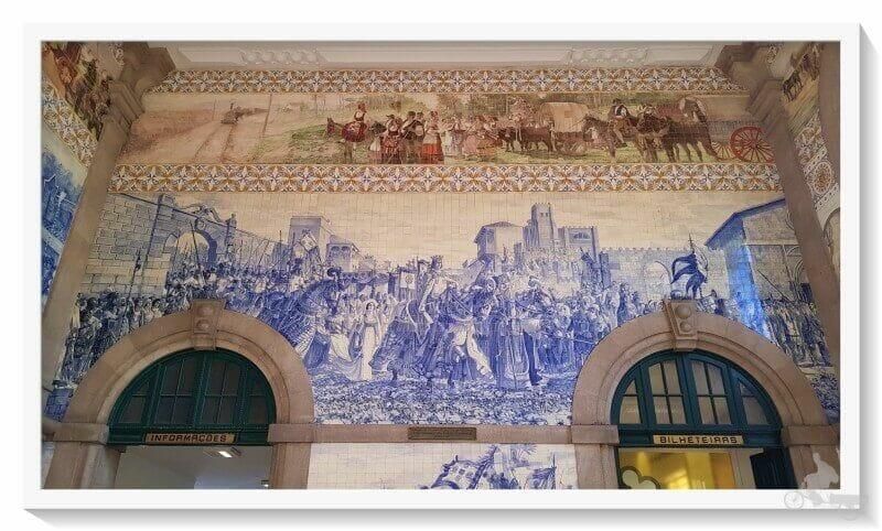 entrada del rey Juan I y Felipa de Lancaster, en Oporto en la estacion sao bento