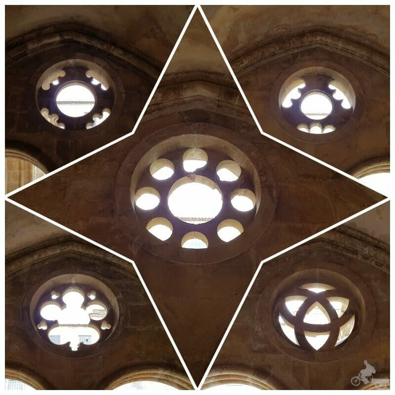 interior rosetones del claustro de la catedral de coimbra