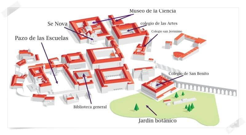 plano edificios universidad coimbra
