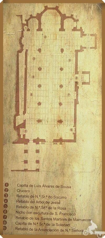 planta iglesia de san francisco oporto plano