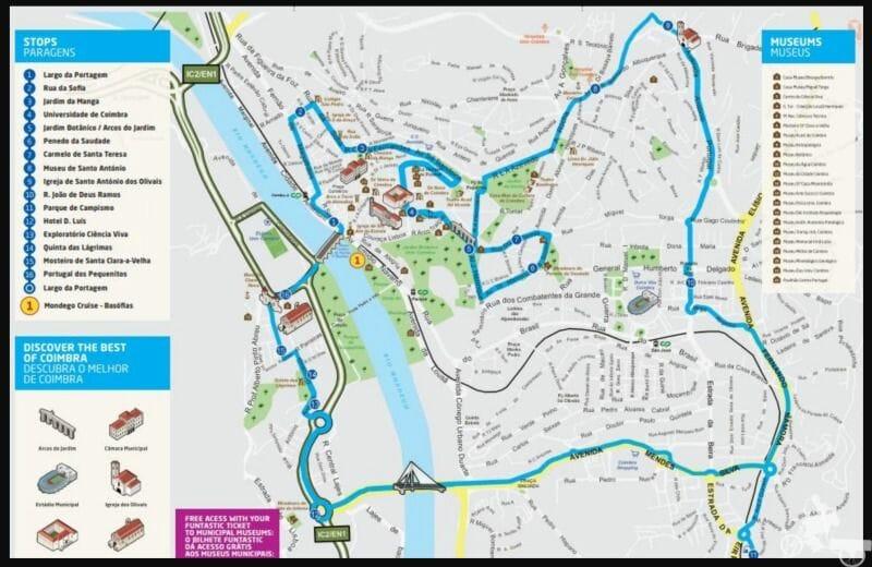 ruta bus turistico coimbra