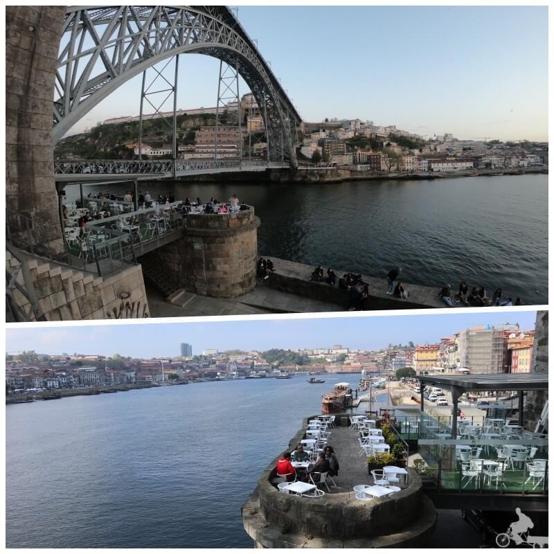 bar bajo el puente don luis I en oporto