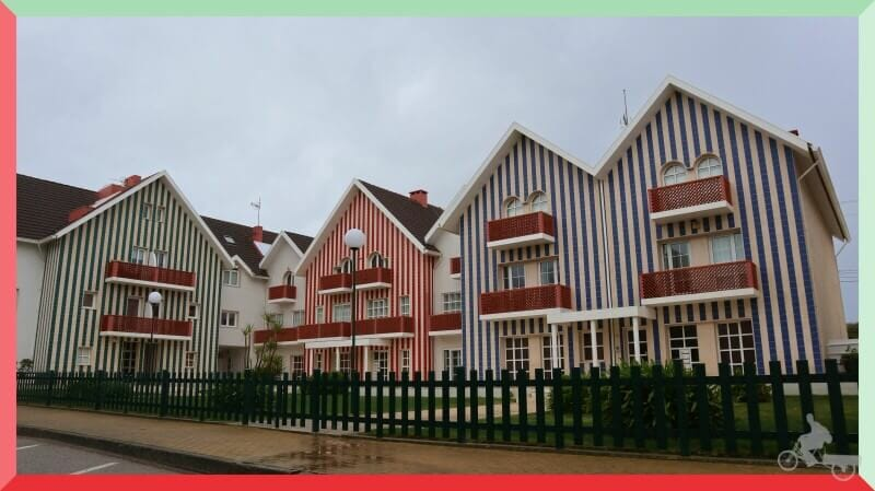 casas rayas y colores en costa nova aveiro