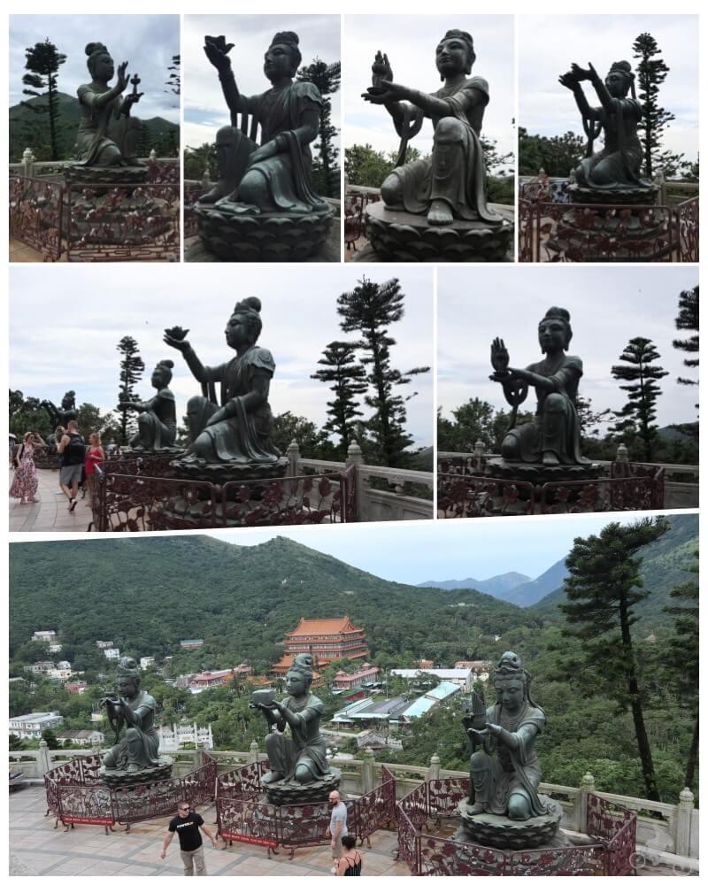 estatuas Ofrenda de los seis Devas