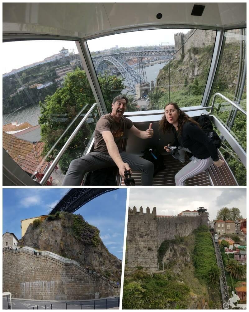 vistas puente don luis de oporto desde el funicular