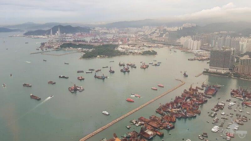isla de lantau desde el sky 100