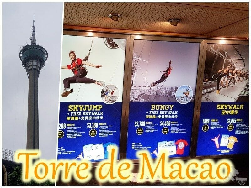 torre de Macao - salto en bungee