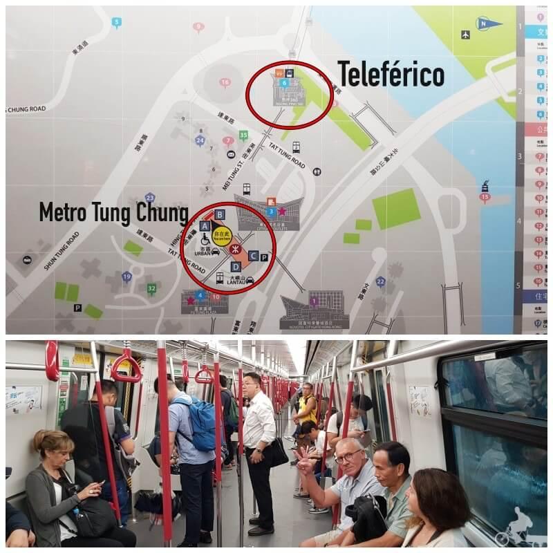 ubicacion teleferico ngong ping